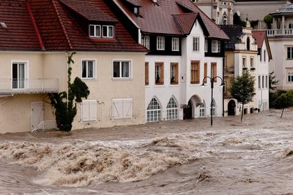 Hochwasser und Überflutung